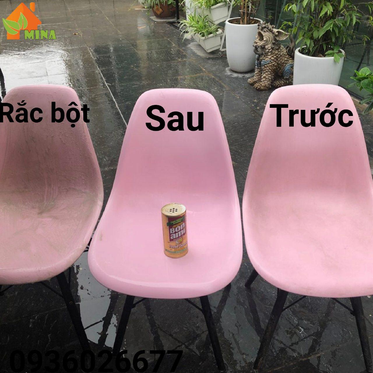 Bonami làm sạch ghế nhựa