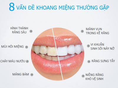 tăm điện MINA, vấn đề về răng miệng